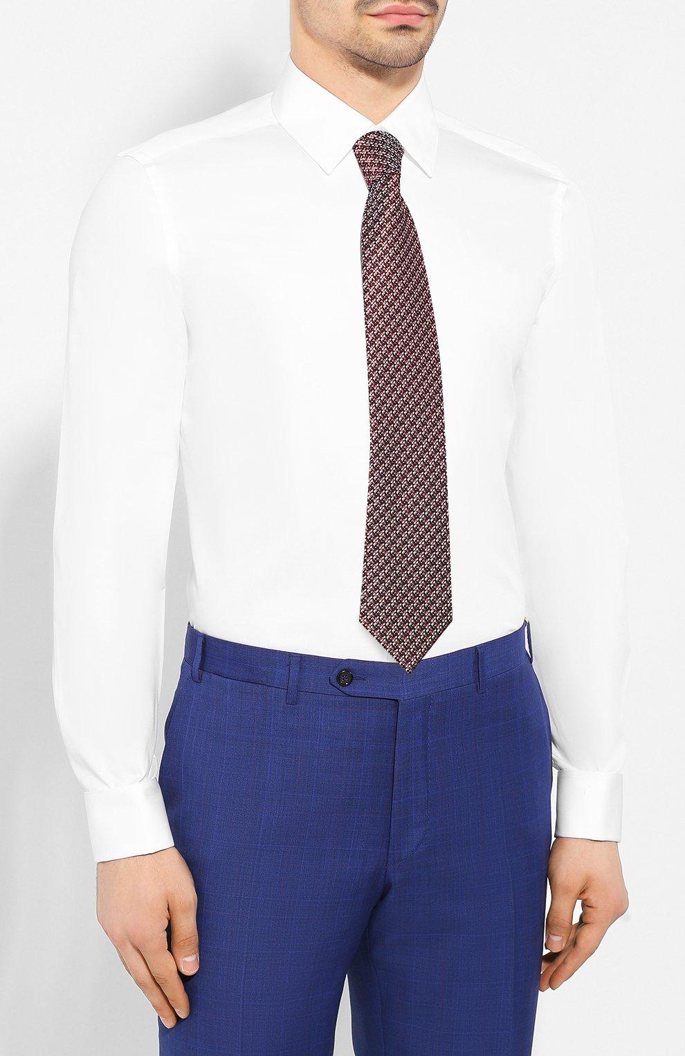Мужская хлопковая сорочка CORNELIANI белого цвета, арт. 85E082-0111102/00   Фото 4