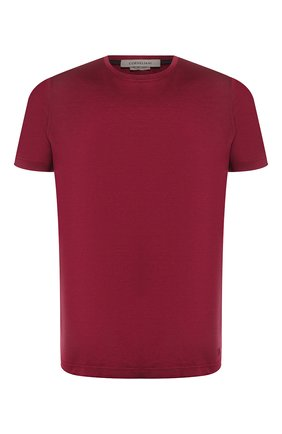 Мужская хлопковая футболка CORNELIANI малинового цвета, арт. 85G500-0125000/00   Фото 1
