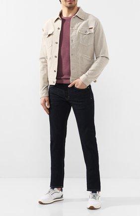 Мужской шерстяной джемпер CORNELIANI темно-розового цвета, арт. 85M597-0125105/00   Фото 2