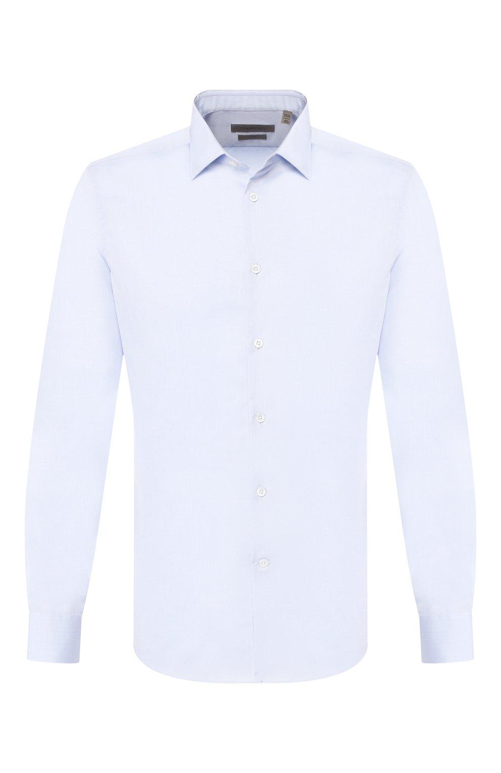 Мужская хлопковая сорочка CORNELIANI голубого цвета, арт. 85P010-0111408/00 | Фото 1