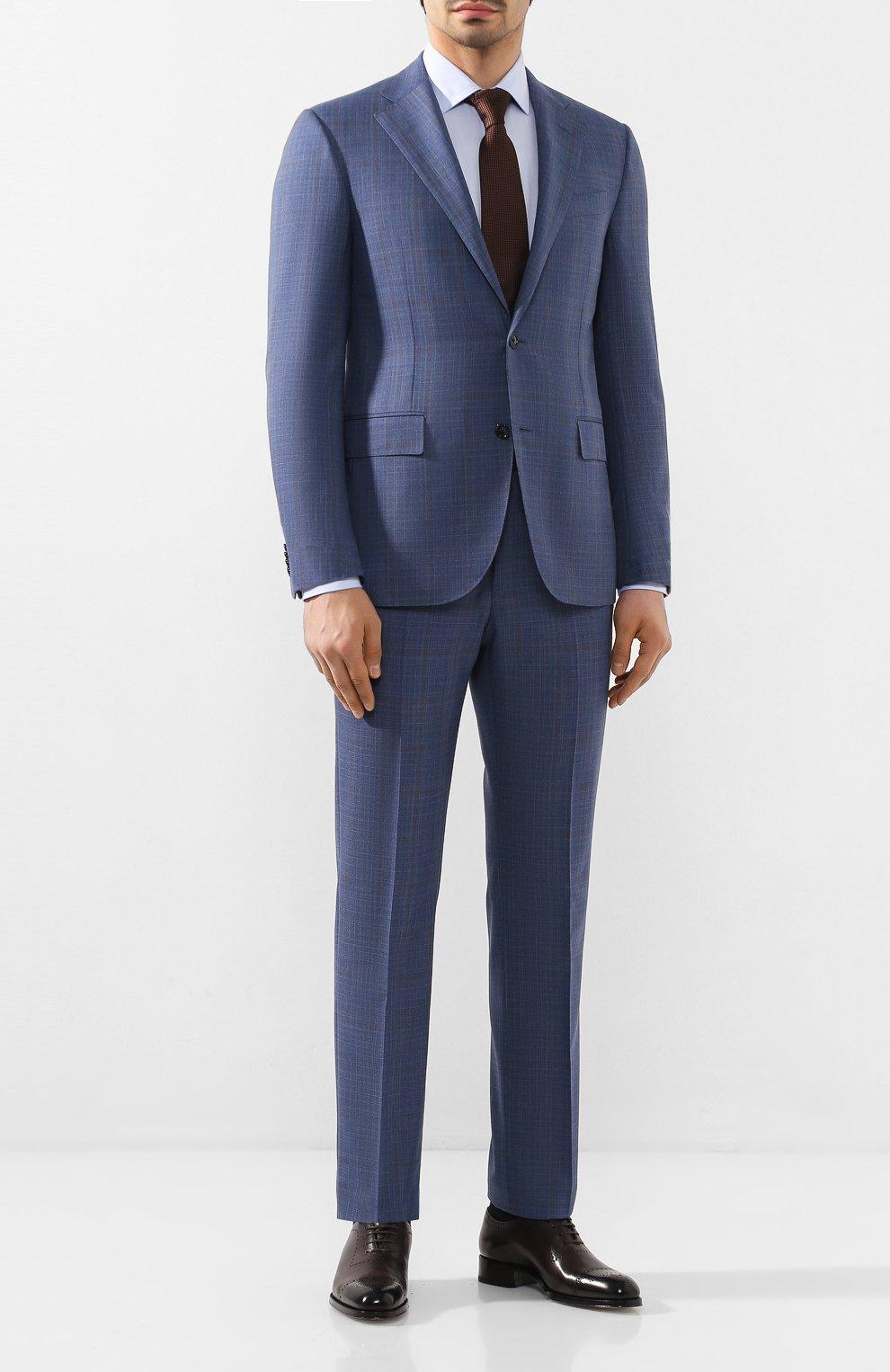 Мужская хлопковая сорочка CORNELIANI голубого цвета, арт. 85P010-0111408/00 | Фото 2