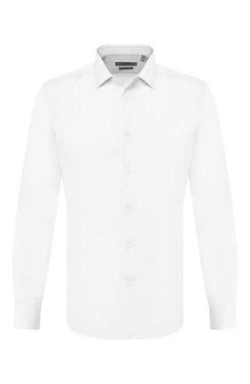 Мужская хлопковая сорочка CORNELIANI белого цвета, арт. 85P056-0111619/00 | Фото 1