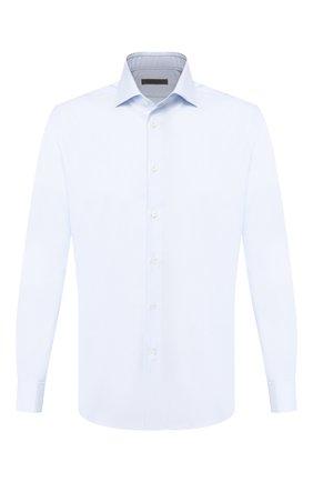 Мужская хлопковая сорочка CORNELIANI голубого цвета, арт. 85P150-0111307/00 | Фото 1