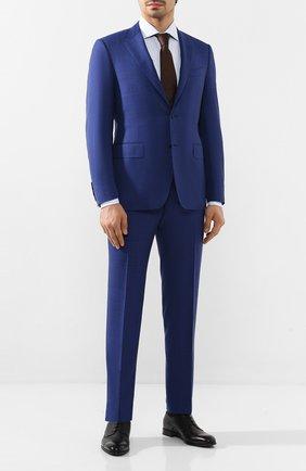 Мужская хлопковая сорочка CORNELIANI голубого цвета, арт. 85P150-0111307/00 | Фото 2