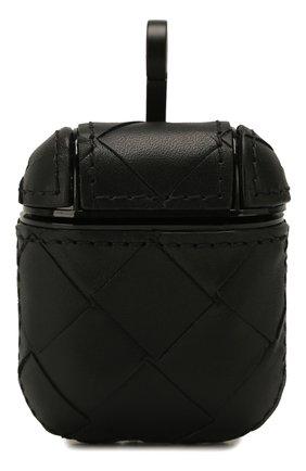Мужской кожаный чехол для airpods BOTTEGA VENETA черного цвета, арт. 610263/VCPQ0 | Фото 1