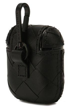 Мужской кожаный чехол для airpods BOTTEGA VENETA черного цвета, арт. 610263/VCPQ0 | Фото 2