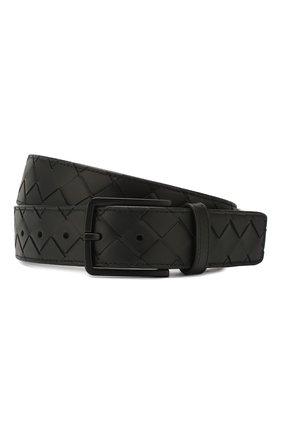 Мужской кожаный ремень BOTTEGA VENETA черного цвета, арт. 609182/VCPQ3 | Фото 1