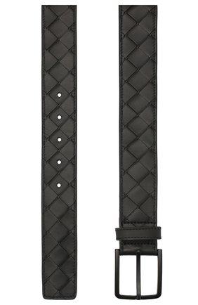 Мужской кожаный ремень BOTTEGA VENETA черного цвета, арт. 609182/VCPQ3 | Фото 2
