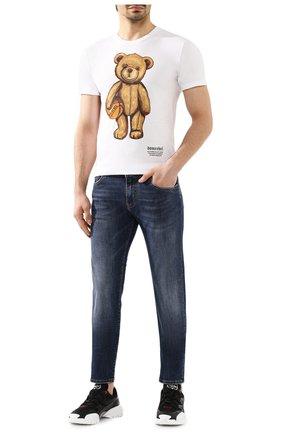 Мужская хлопковая футболка DOM REBEL белого цвета, арт. DRIBBLE/REGULAR T-SHIRT | Фото 2