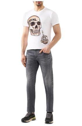 Мужская хлопковая футболка DOM REBEL белого цвета, арт. FLIP/REGULAR T-SHIRT | Фото 2
