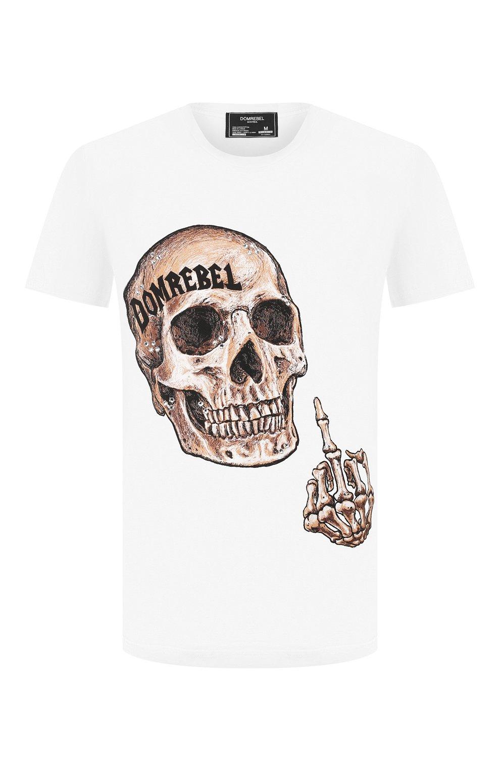 Мужская хлопковая футболка DOM REBEL белого цвета, арт. FLIP/T-SHIRT | Фото 1