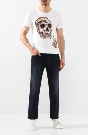 Мужская хлопковая футболка DOM REBEL белого цвета, арт. FLIP/T-SHIRT | Фото 2