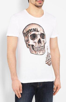 Мужская хлопковая футболка DOM REBEL белого цвета, арт. FLIP/T-SHIRT | Фото 3