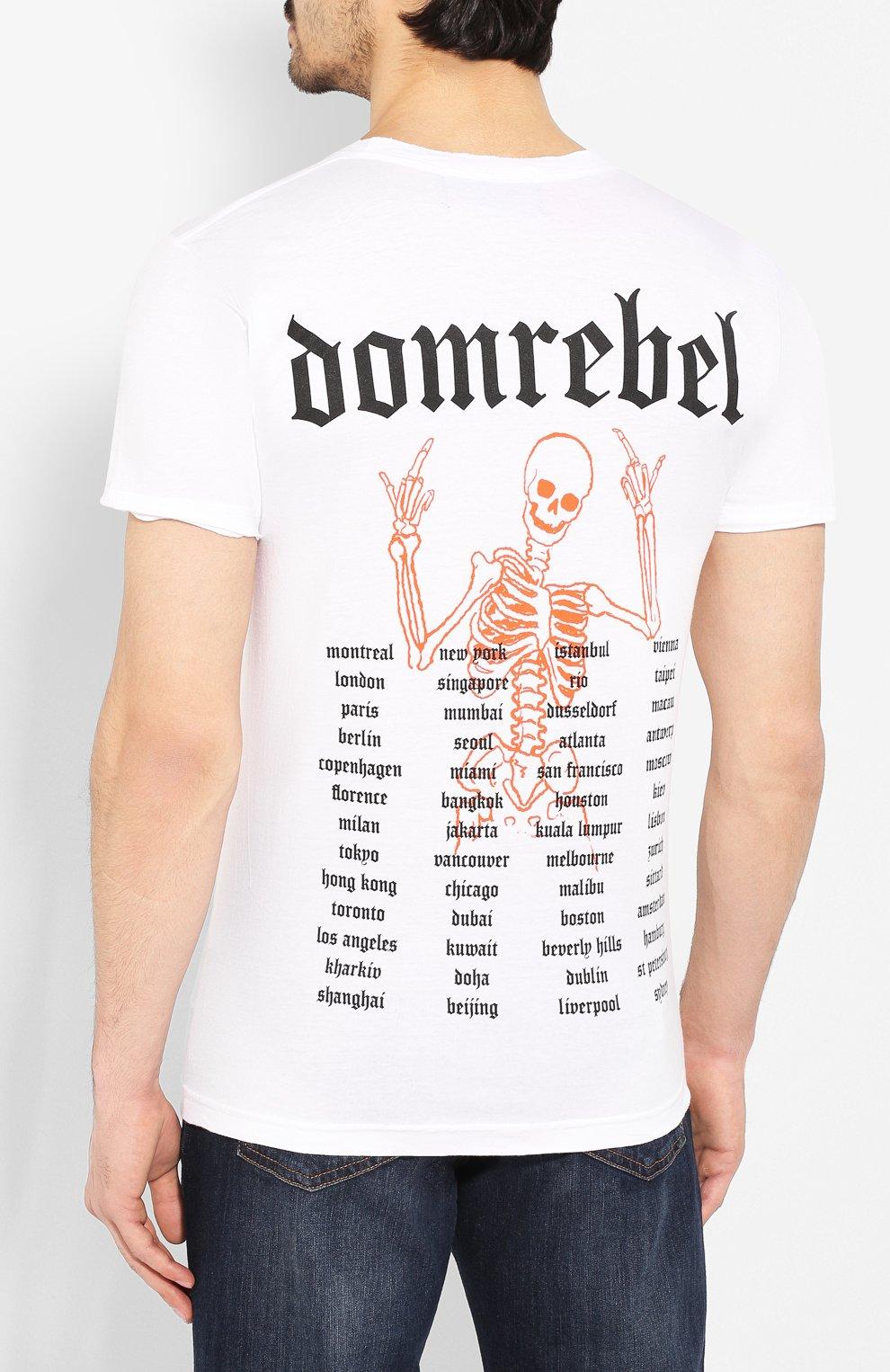Мужская хлопковая футболка DOM REBEL белого цвета, арт. FLIP/T-SHIRT | Фото 4