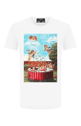 Мужская хлопковая футболка DOM REBEL белого цвета, арт. P00L/T-SHIRT | Фото 1