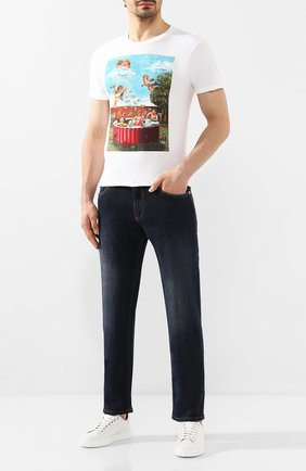 Мужская хлопковая футболка DOM REBEL белого цвета, арт. P00L/T-SHIRT | Фото 2