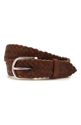 Мужской кожаный ремень BRIONI светло-коричневого цвета, арт. 0BAN0L/P9734 | Фото 1
