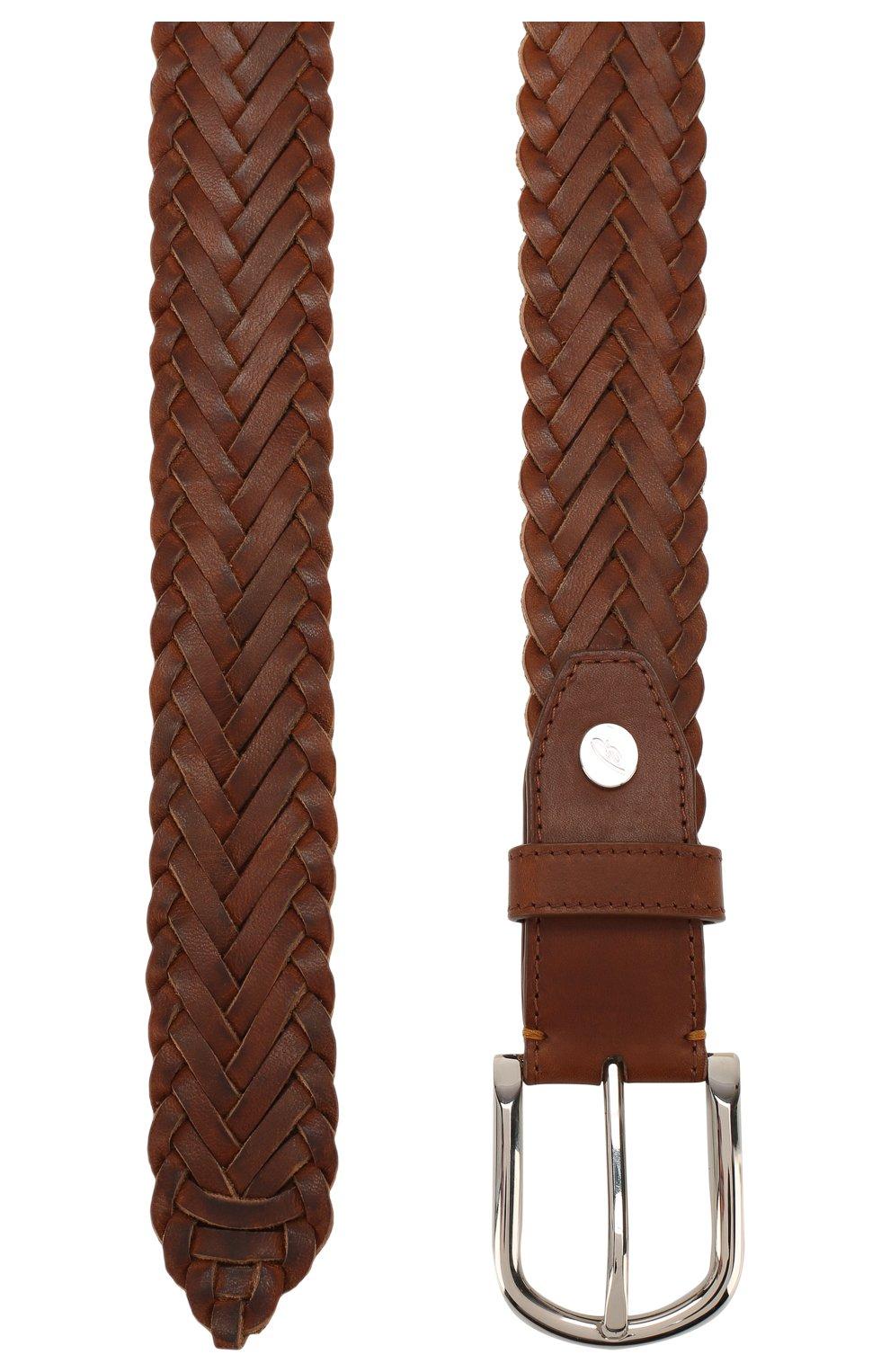 Мужской кожаный ремень BRIONI светло-коричневого цвета, арт. 0BAN0L/P9734 | Фото 2