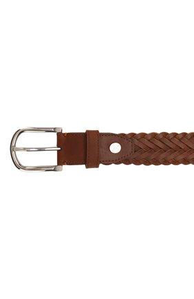 Мужской кожаный ремень BRIONI светло-коричневого цвета, арт. 0BAN0L/P9734 | Фото 3