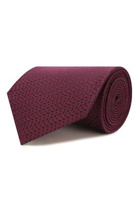 Мужской шелковый галстук BRIONI бордового цвета, арт. 062I00/P9496 | Фото 1