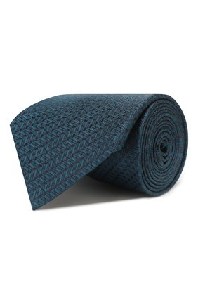 Мужской шелковый галстук BRIONI бирюзового цвета, арт. 062I00/P9496 | Фото 1