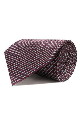 Мужской шелковый галстук BRIONI красного цвета, арт. 062I00/P9494   Фото 1 (Материал: Шелк, Текстиль; Статус проверки: Проверена категория; Принт: С принтом)