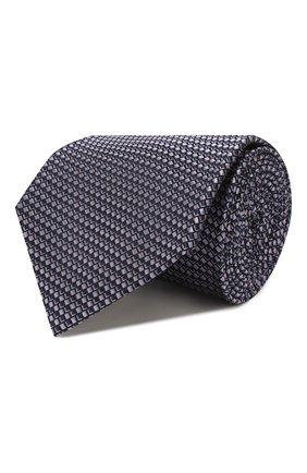 Мужской шелковый галстук BRIONI сиреневого цвета, арт. 062I00/P9458 | Фото 1