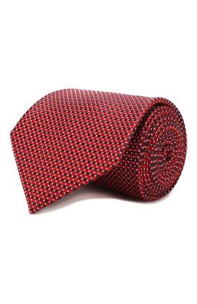 Мужской шелковый галстук BRIONI красного цвета, арт. 062H00/P9490   Фото 1 (Материал: Шелк, Текстиль; Статус проверки: Проверена категория; Принт: С принтом)