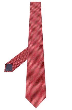 Мужской шелковый галстук BRIONI красного цвета, арт. 062H00/P9490   Фото 2 (Материал: Шелк, Текстиль; Статус проверки: Проверена категория; Принт: С принтом)