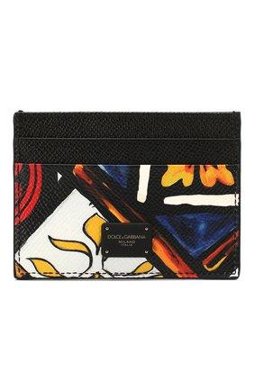 Мужской кожаный футляр для кредитных карт DOLCE & GABBANA разноцветного цвета, арт. BP0330/AZ657 | Фото 1