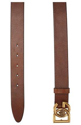 Мужской кожаный ремень DOLCE & GABBANA коричневого цвета, арт. BC4376/AV480 | Фото 2