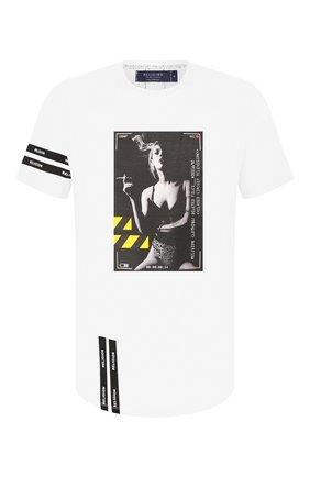 Мужская хлопковая футболка RELIGION белого цвета, арт. 49BCVG05 | Фото 1