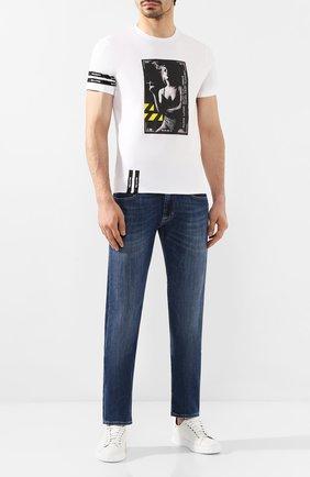 Мужская хлопковая футболка RELIGION белого цвета, арт. 49BCVG05 | Фото 2