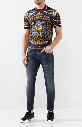 Мужские джинсы DOLCE & GABBANA темно-синего цвета, арт. GY07CD/G8BY5   Фото 2