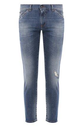 Мужские джинсы DOLCE & GABBANA темно-синего цвета, арт. GW7XLZ/G8BY7   Фото 1
