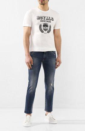 Мужские джинсы DOLCE & GABBANA темно-синего цвета, арт. GW7XLZ/G8BY7   Фото 2