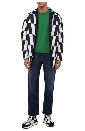 Мужская хлопковая футболка DOLCE & GABBANA зеленого цвета, арт. G8KJ9T/FU7EQ   Фото 2 (Мужское Кросс-КТ: Футболка-одежда; Рукава: Короткие; Материал внешний: Хлопок; Принт: Без принта; Длина (для топов): Стандартные; Стили: Кэжуэл)