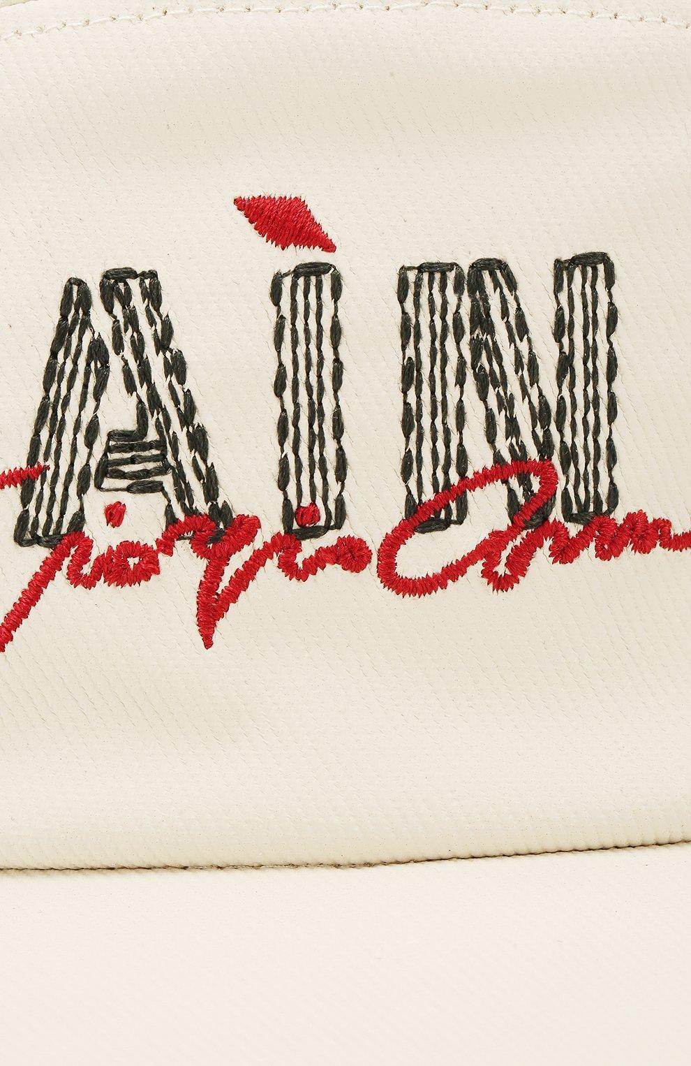 Мужской хлопковая бейсболка GIORGIO ARMANI кремвого цвета, арт. 747376/0P604 | Фото 3
