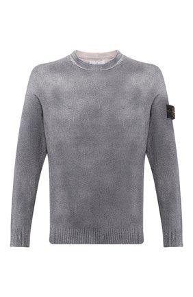 Мужской джемпер STONE ISLAND серого цвета, арт. 7215543B7 | Фото 1