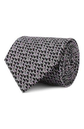 Мужской шелковый галстук ZILLI серого цвета, арт. 50236/TIES | Фото 1