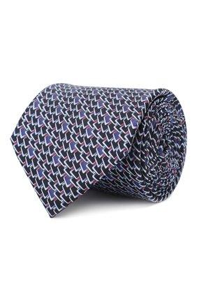 Мужской шелковый галстук ZILLI зеленого цвета, арт. 50236/TIES | Фото 1
