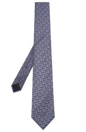 Мужской шелковый галстук ZILLI зеленого цвета, арт. 50236/TIES | Фото 2