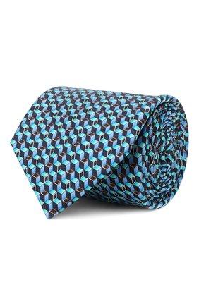 Мужской шелковый галстук ZILLI серого цвета, арт. 50227/TIES | Фото 1