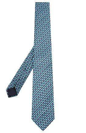 Мужской шелковый галстук ZILLI серого цвета, арт. 50227/TIES | Фото 2