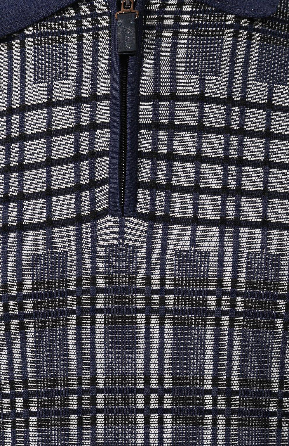Мужское хлопковое поло BRIONI синего цвета, арт. UMS20L/P9K22 | Фото 5