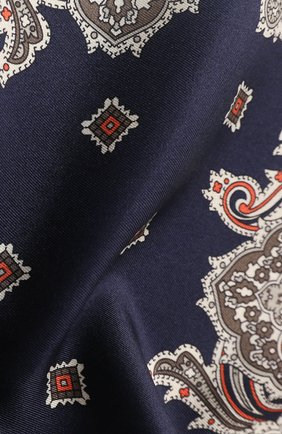 Мужской шелковый платок BRIONI темно-синего цвета, арт. 071D00/P942C | Фото 2