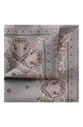 Мужской шелковый платок BRIONI серого цвета, арт. 071D00/P942C | Фото 1