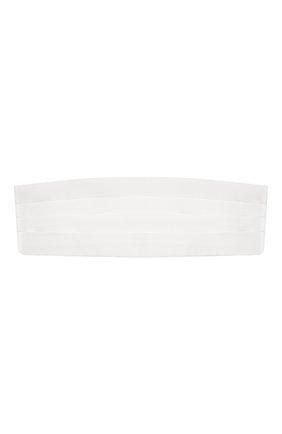 Мужской шелковый камербанд BRIONI белого цвета, арт. 000100/PZ411 | Фото 1
