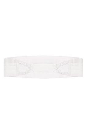 Мужской шелковый камербанд BRIONI белого цвета, арт. 000100/PZ411 | Фото 2