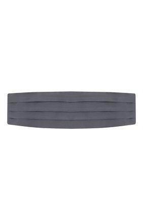 Мужской шелковый камербанд BRIONI серого цвета, арт. 000100/PZ411 | Фото 1